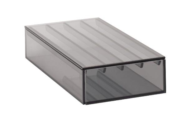Seleco VITREO Design-Stiftebox mit Deckel aus Glas