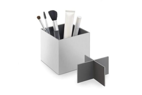 XERO 40012 Design-Utensilien Box mit Trennkreuz - groß - aus Edelstahl von Zack