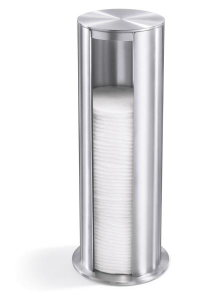 YARA 40408 Design-Wattepad-Spender aus Edelstahl von Zack